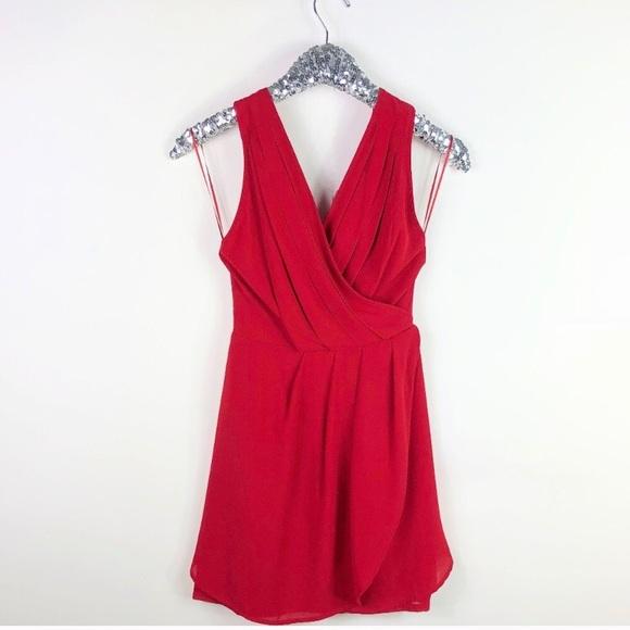 Tobi Dresses & Skirts - Tobi Red Party Dress Mini Wrap SZ Small